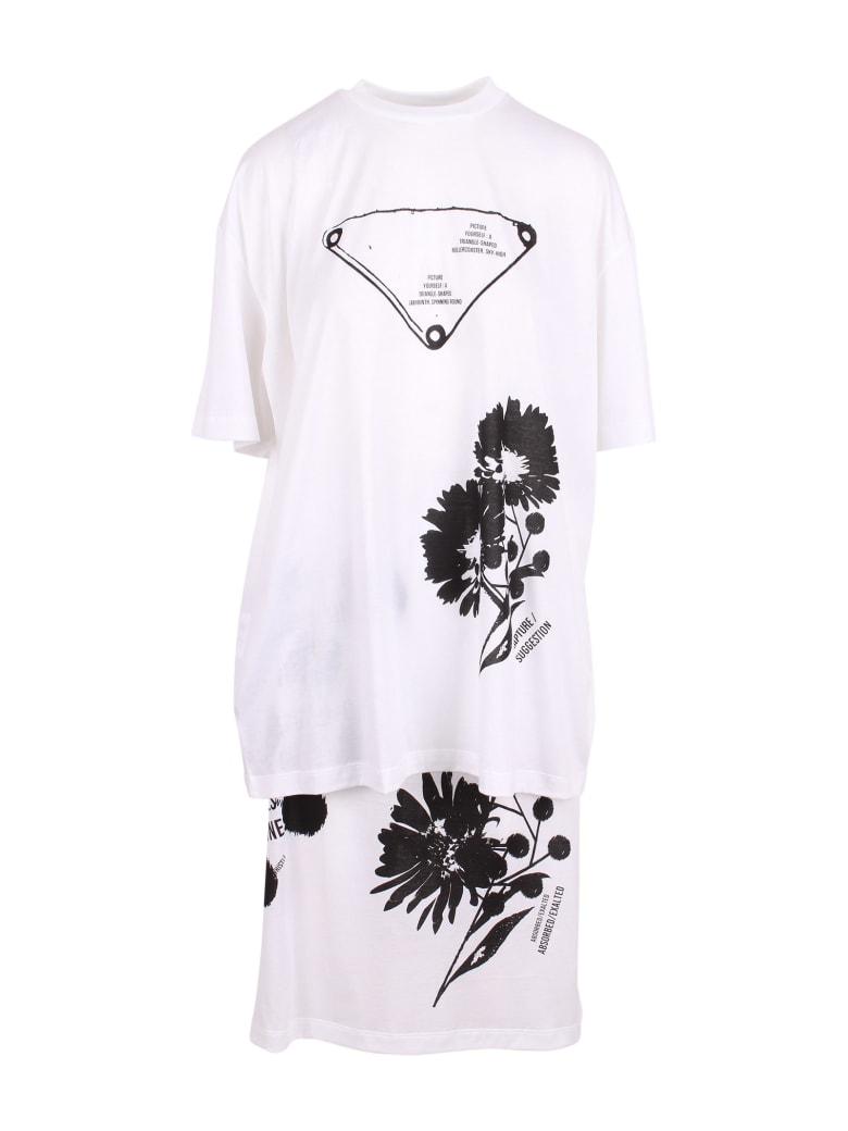 Prada Cotton Suit - White Black
