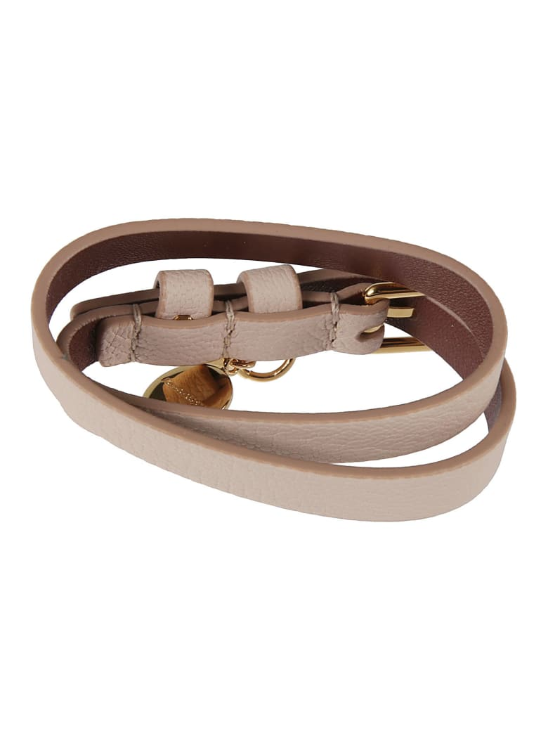 Alexander McQueen Double-wrap Bracelet - Cipria