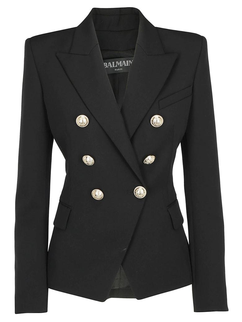 Balmain 6btn Grain De Poudre Jacket - Noir