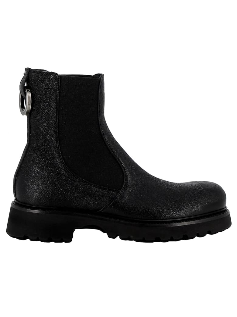 Rocco P. Black Leather Ankle Boots - BLACK