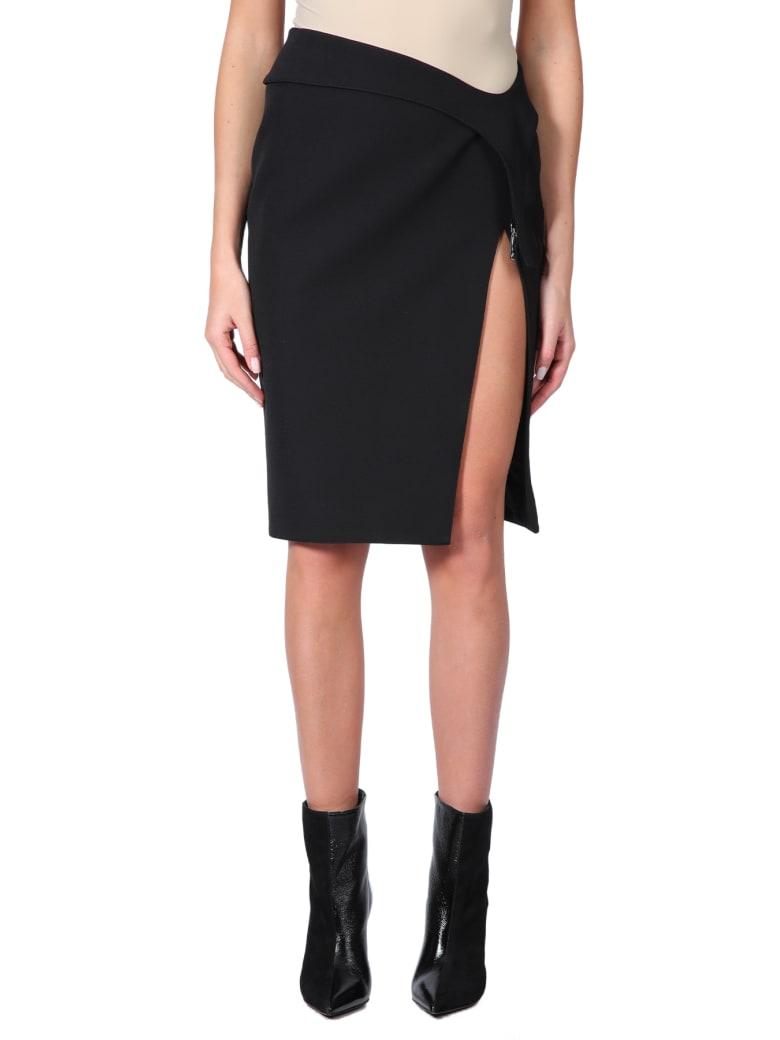 Thierry Mugler Midi Skirt With Split - Nero