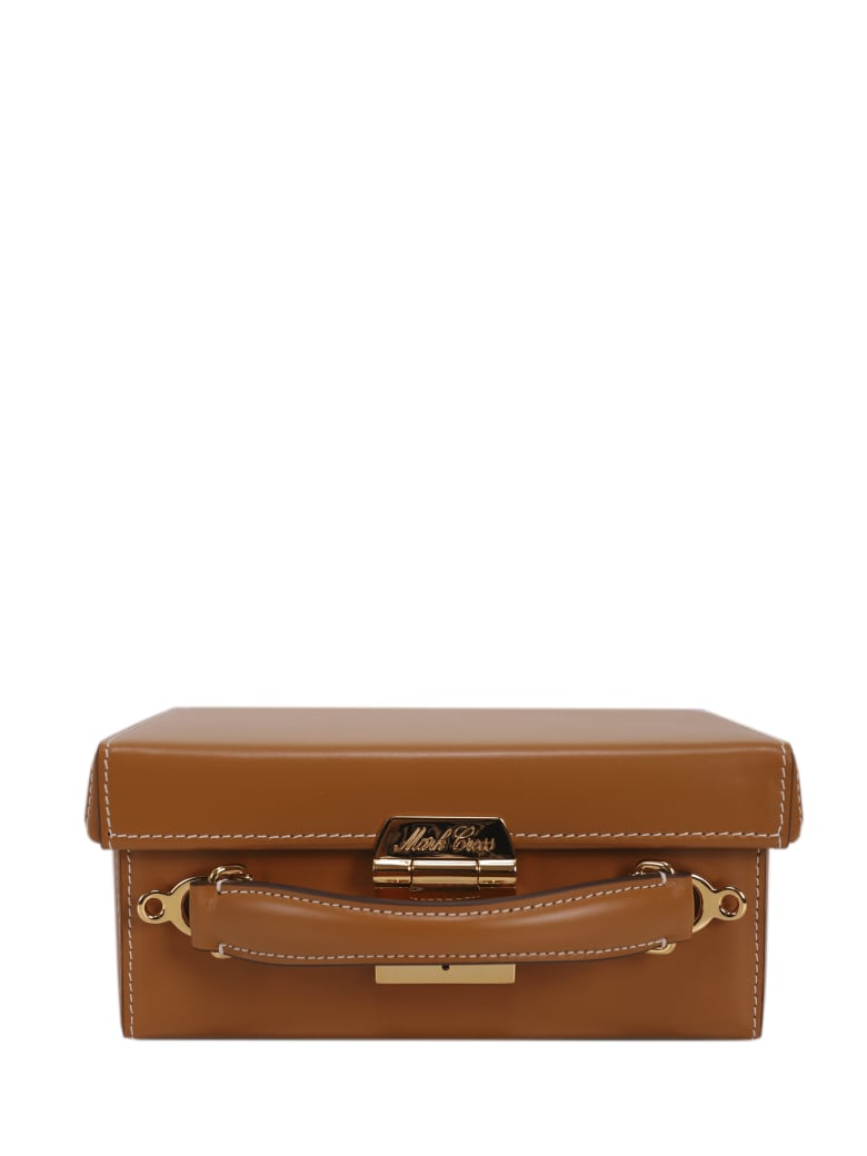 Mark Cross Brown Grace Small Box Bag - Leather brown
