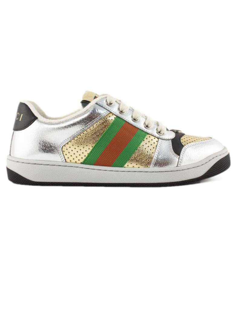 Gucci Screener Low-top Sneakers - Argento