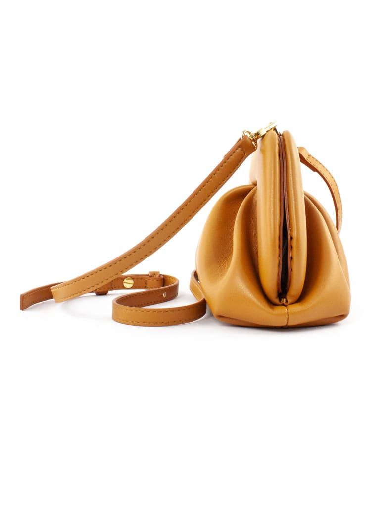 THEMOIRè Brown Clutch Bag In Nappa Eco-leather - NEUTRALS