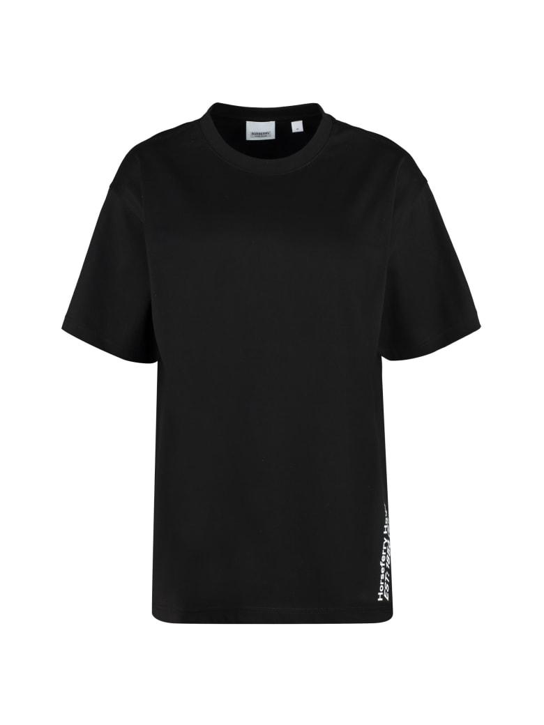 Burberry Printed Oversize T-shirt - black