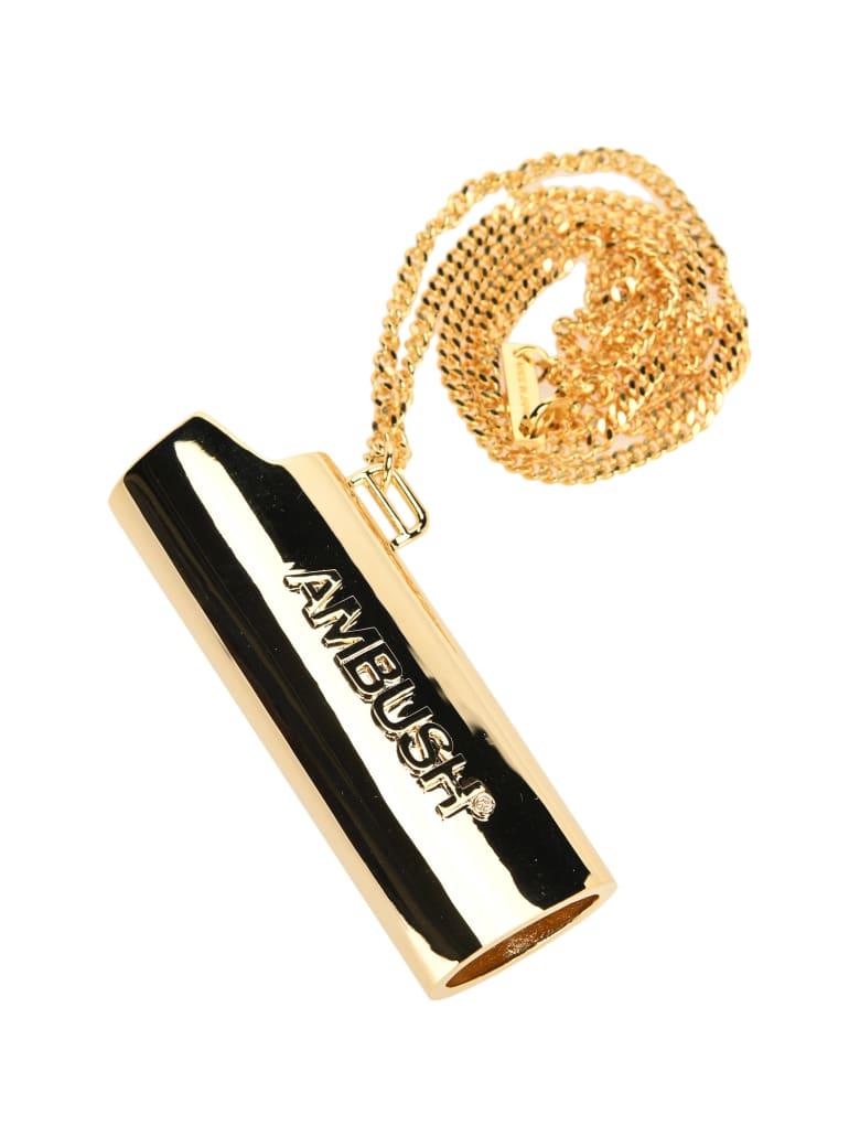 AMBUSH Lighter Holder Necklace - GOLD