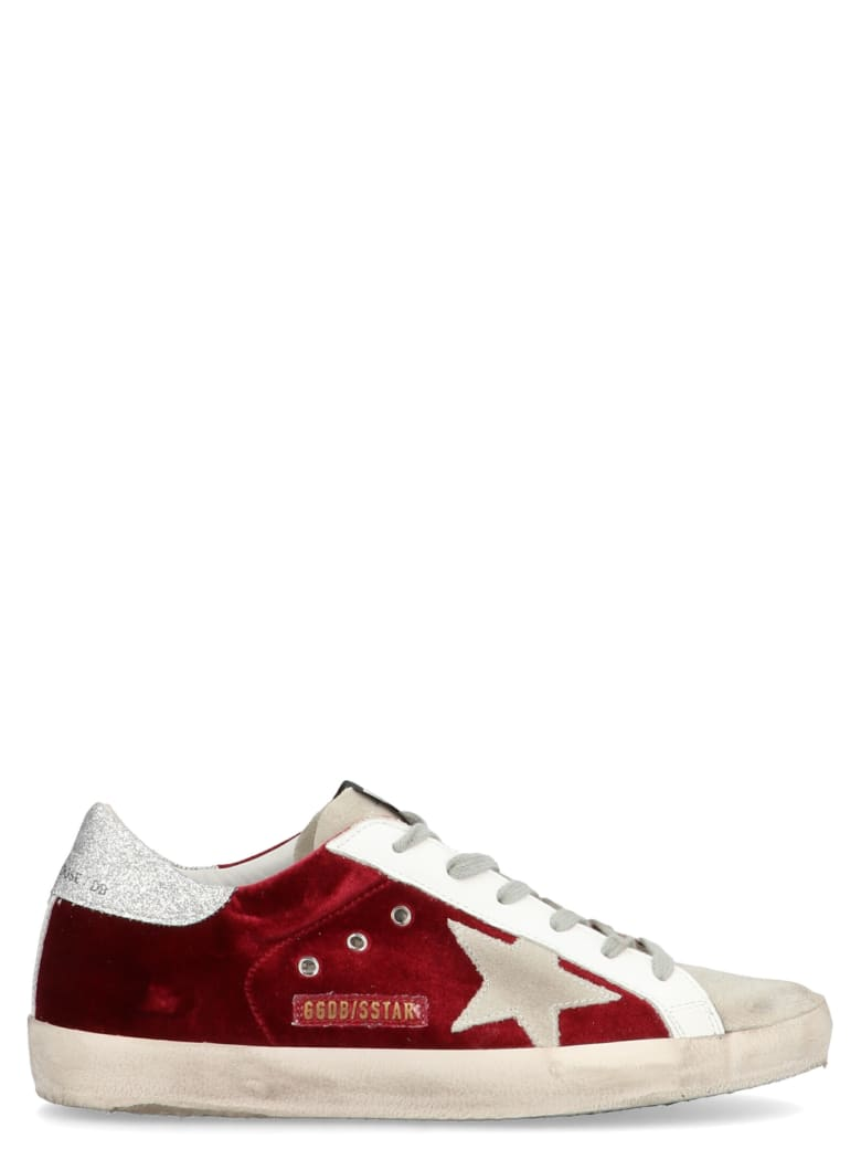 Golden Goose 'super Star' Shoes - Burgundy
