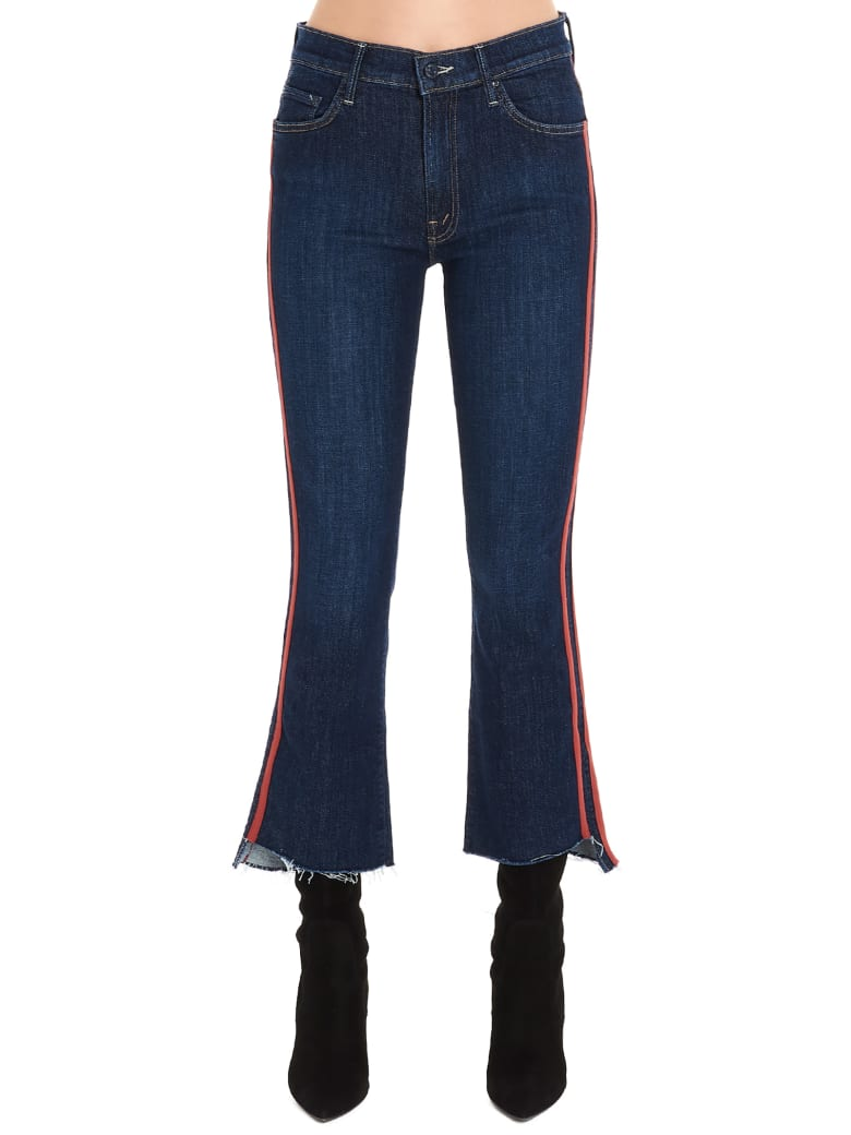 Mother 'the Insider Crop Step Fray' Jeans - Blue