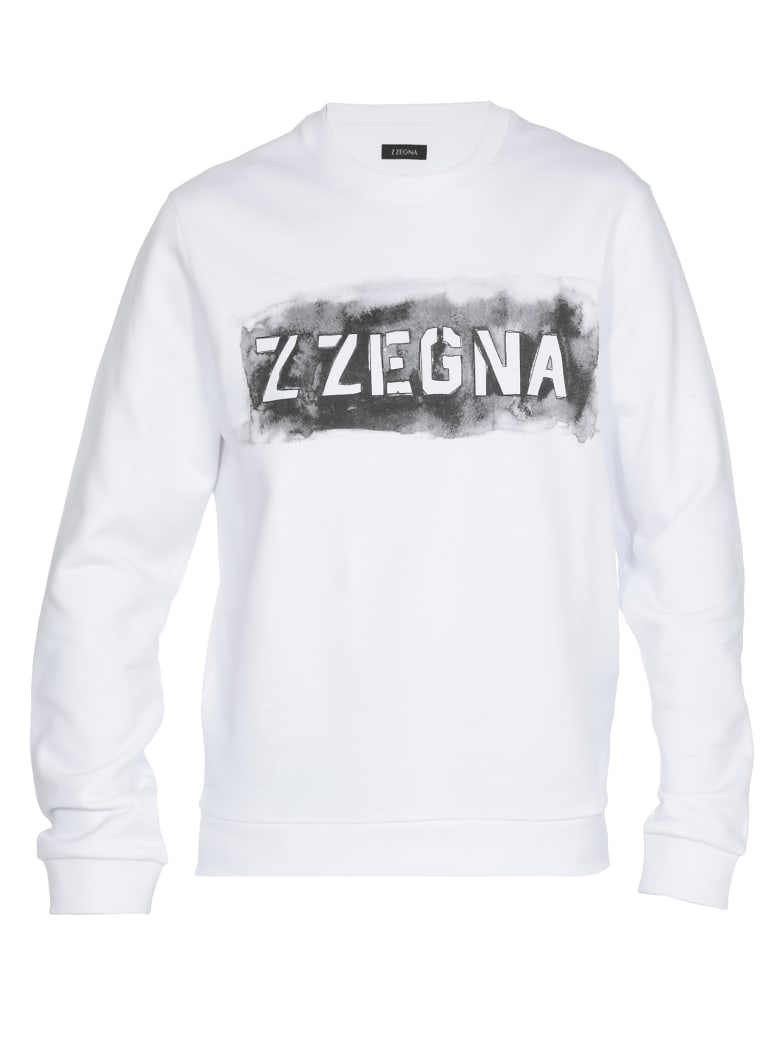 Ermenegildo Zegna Cotton Sweatshirt - WHITE