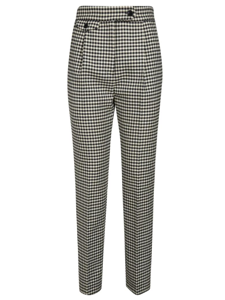 Barena Checked Trousers - Black/White
