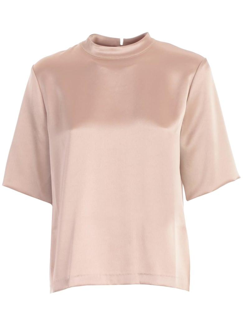 Nanushka T-shirt S/s Satin - Himalayan Salt
