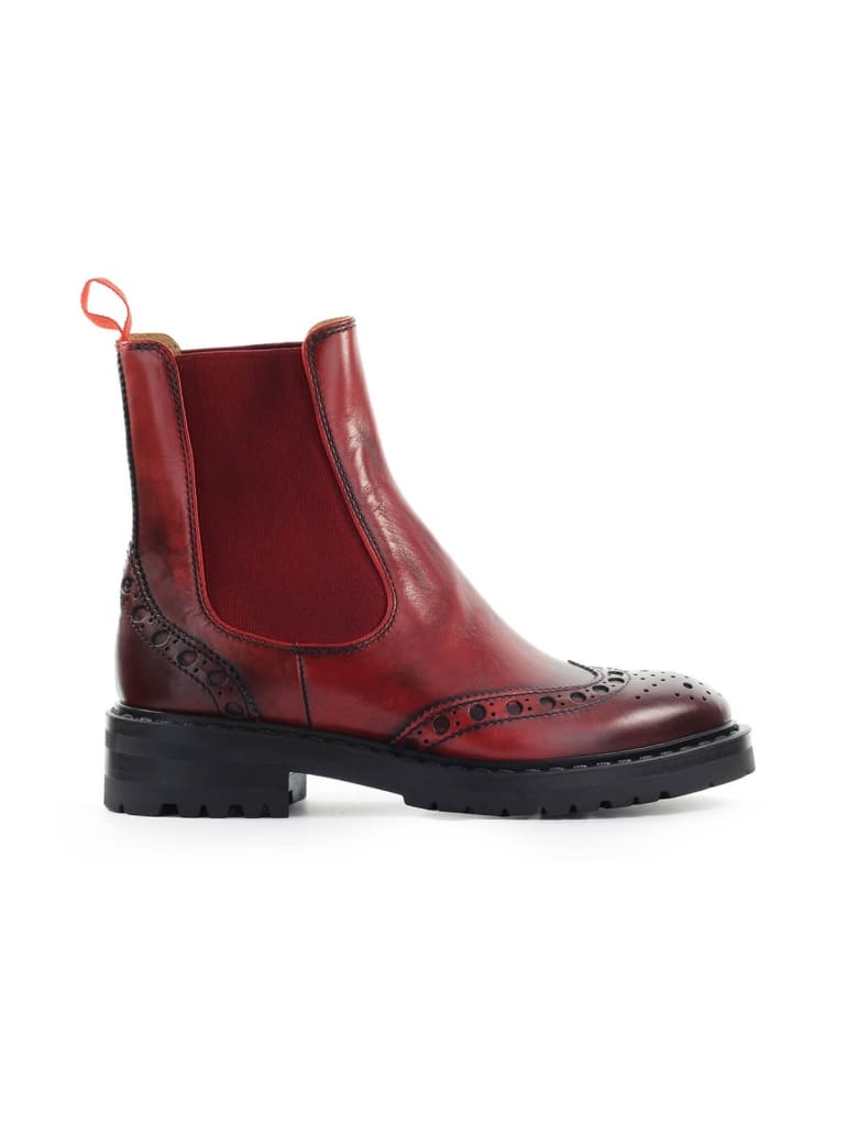 Barracuda Aged Red Chelsea Boot - Rosso (Red)