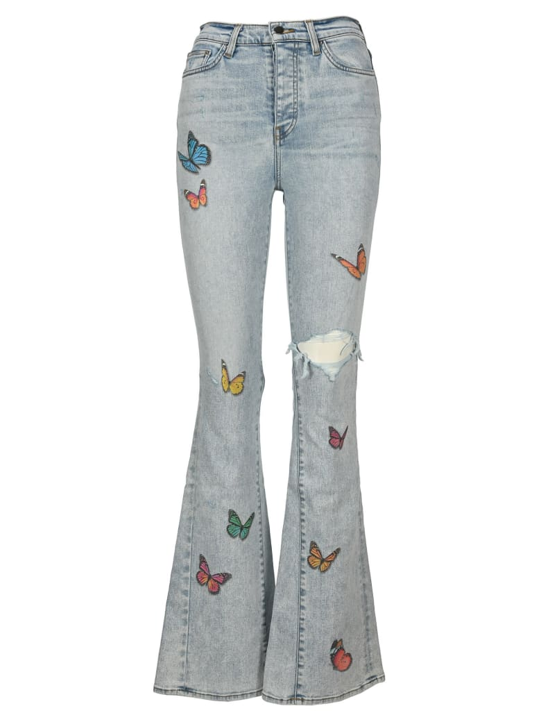 AMIRI Butterfly Flared Jeans - SKY INDIGO