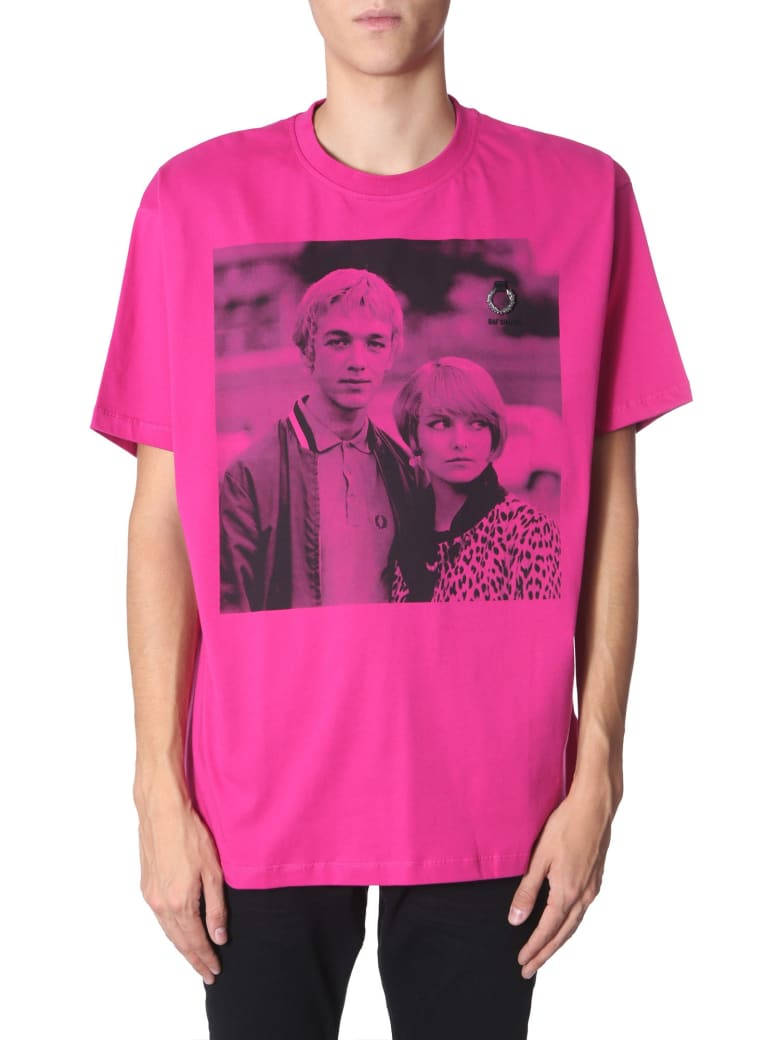 Fred Perry by Raf Simons Printed T-shirt - ROSA