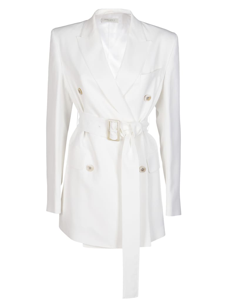 Golden Goose White Viscose Blend Blazer - OPTIC WHITE