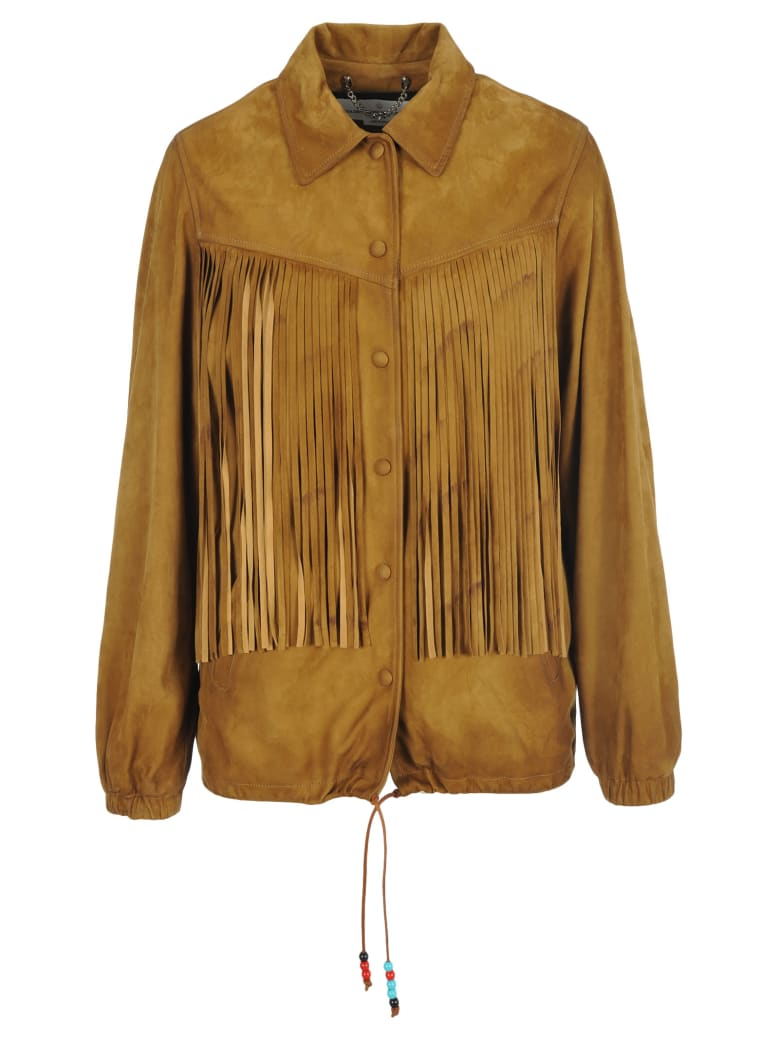 Golden Goose Ayumi Suede Leather Jacket - BROWN