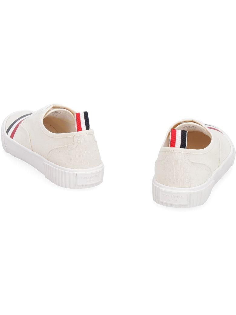 Thom Browne Heritage Canvas Sneakers - panna