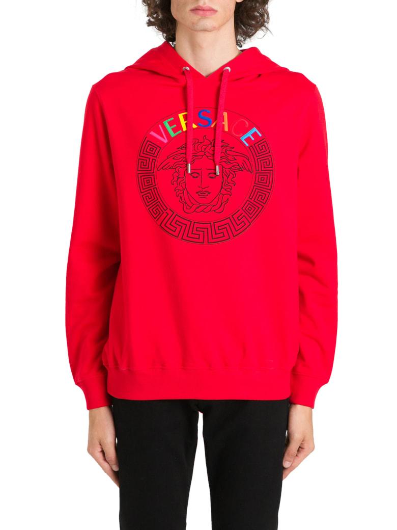 Versace Logo & Medusa Hoodie - Rosso