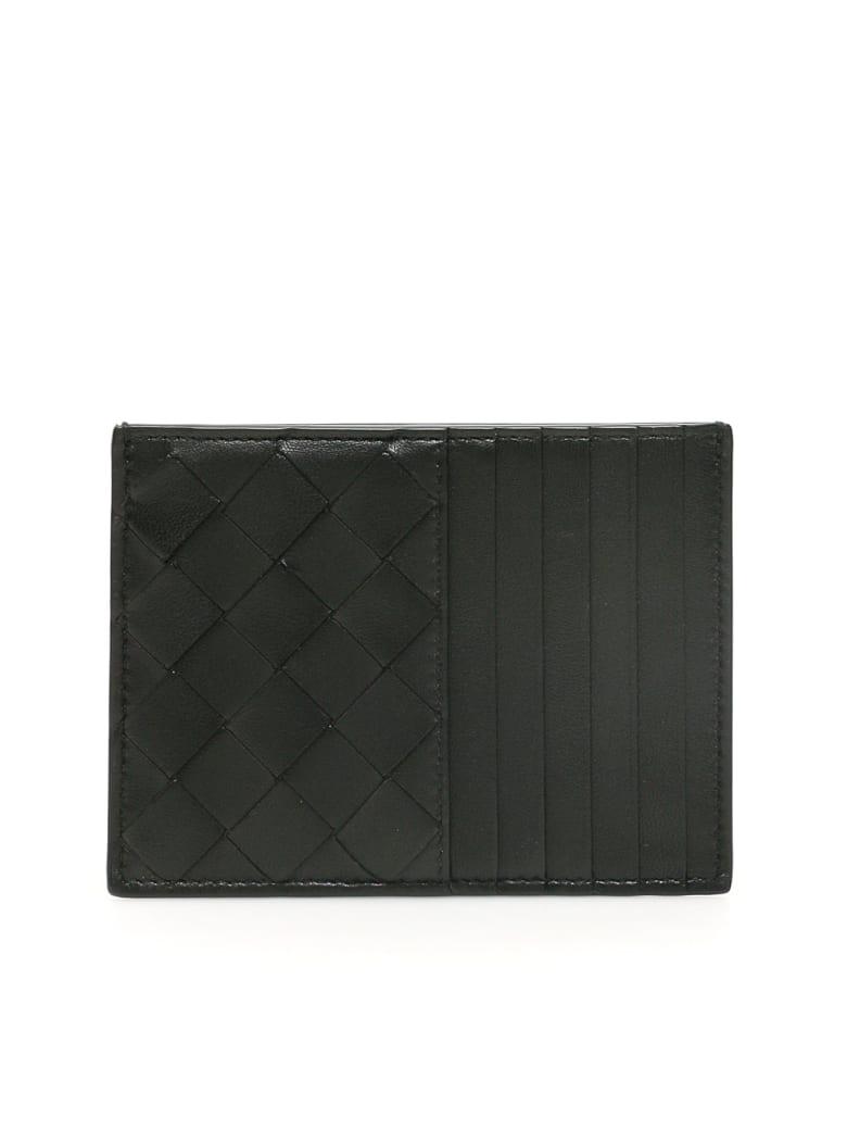Bottega Veneta Unisex Intrecciato 15 Cardholder - Nero