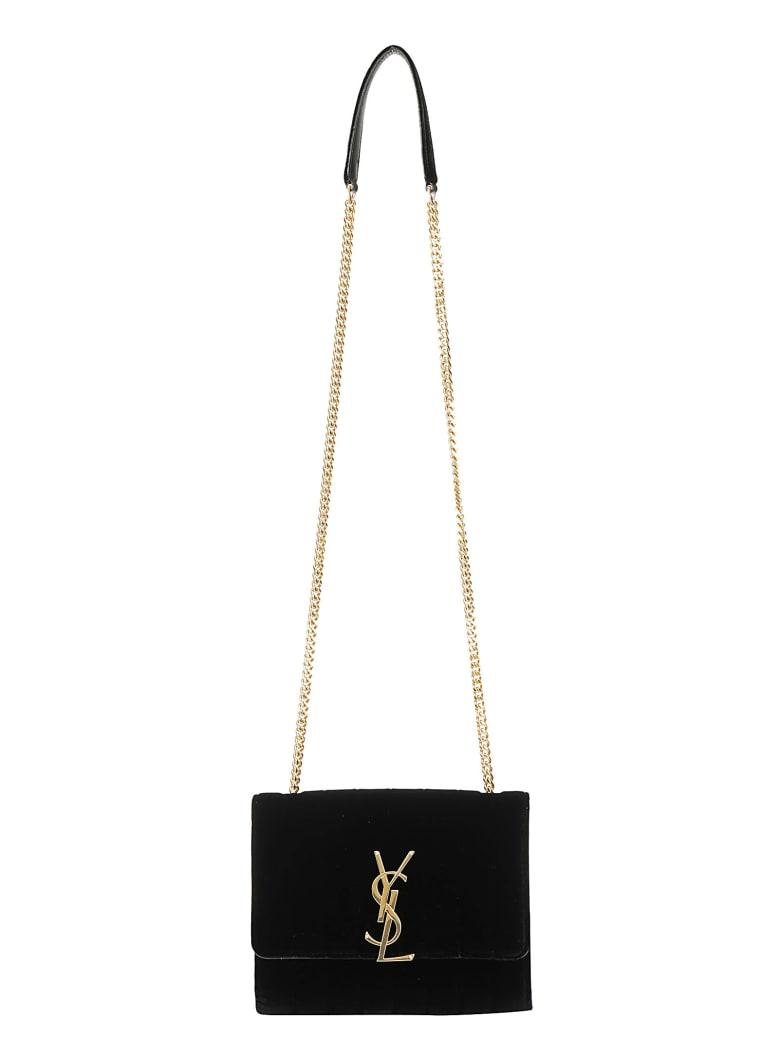 Saint Laurent Vichy Chain Wallet - Nero
