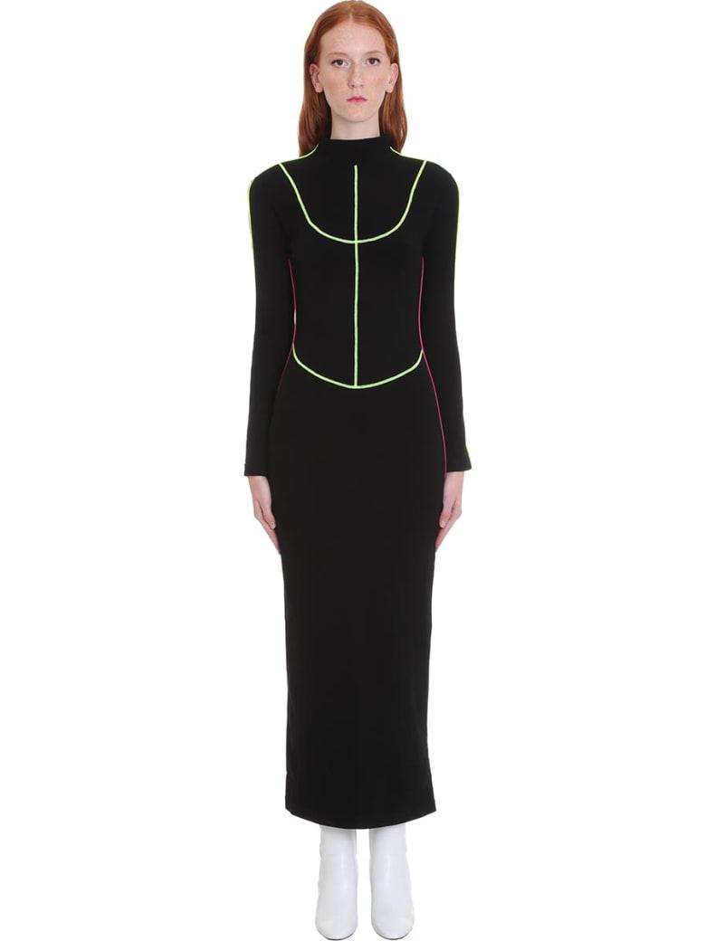 Kirin Dress In Black Cotton - black