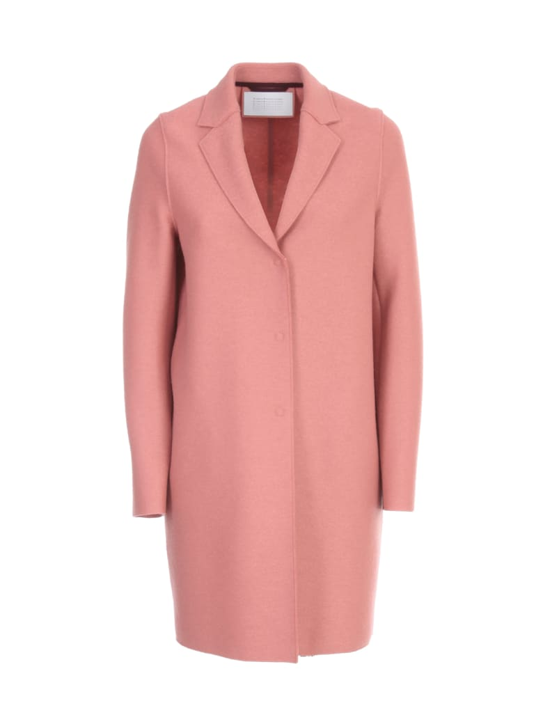 Harris Wharf London Women Cocoon Coat Pressed Wool - Dusty Rose