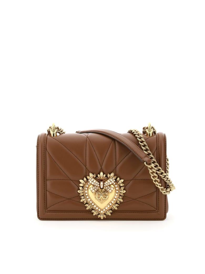 Dolce & Gabbana Devotion Crossbody Bag - Castagno