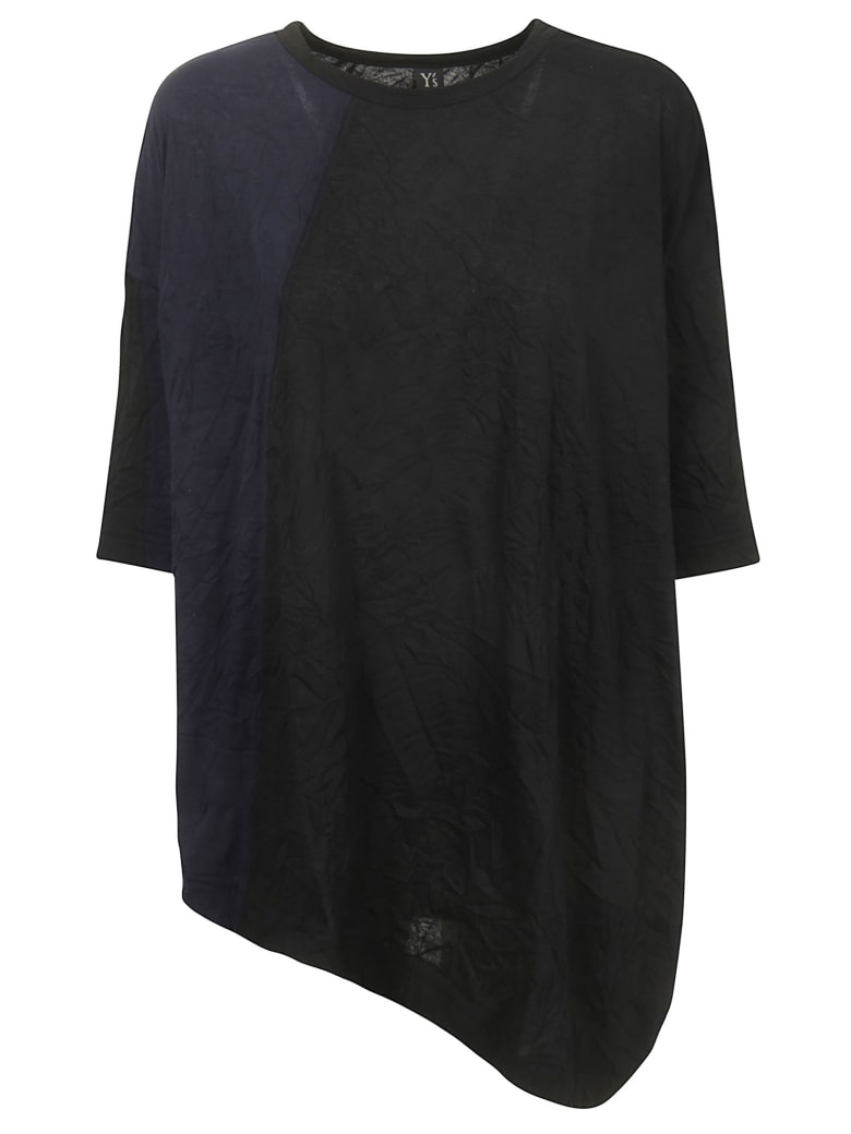 Y's Asymmetric Top - Black blue