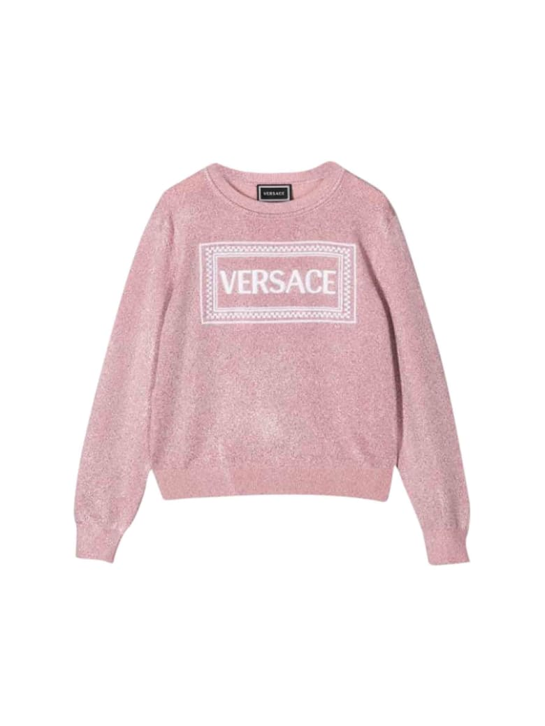 Young Versace Vintage Sweater With Logo - Rosa
