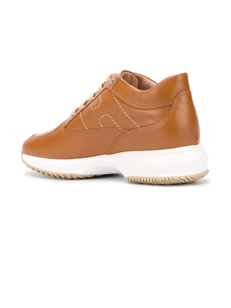 Hogan Brown Interactive Sneakers