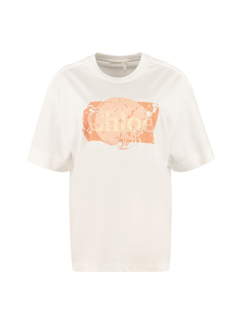 Chloé Oversize Cotton T-shirt - White