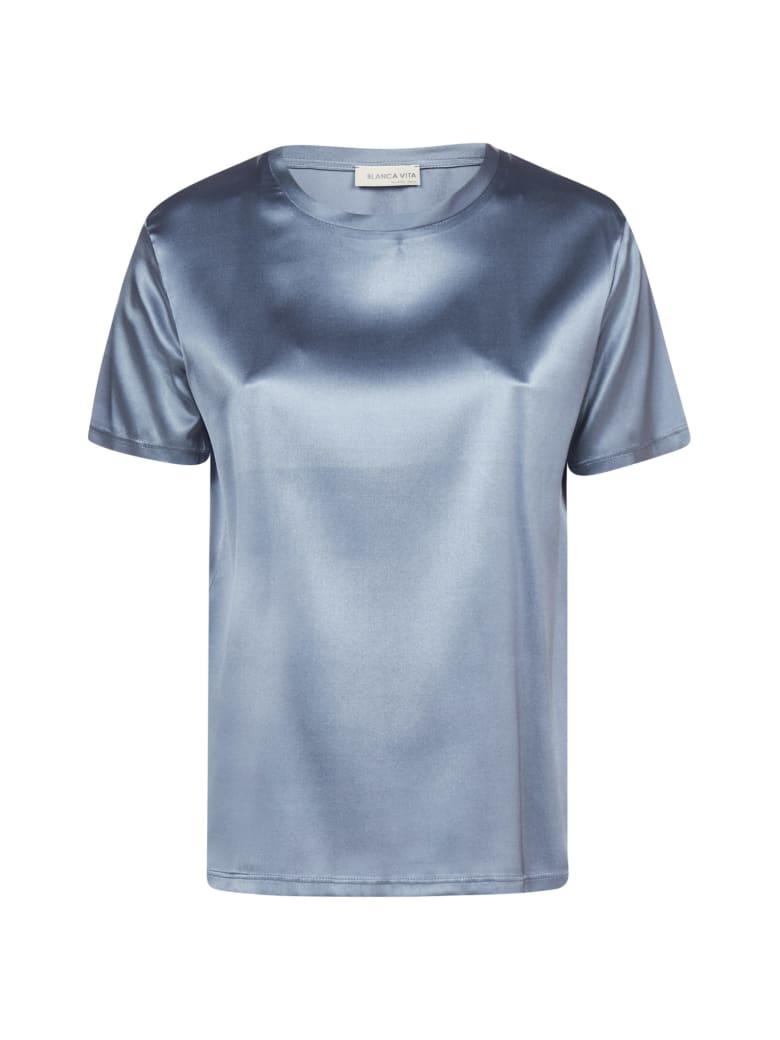 Blanca Vita Teodora Satin Silk T-shirt - Polvere