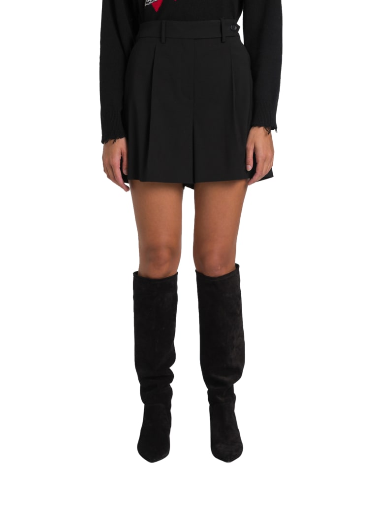 RED Valentino Shorts With Sratorial Flaps - Nero
