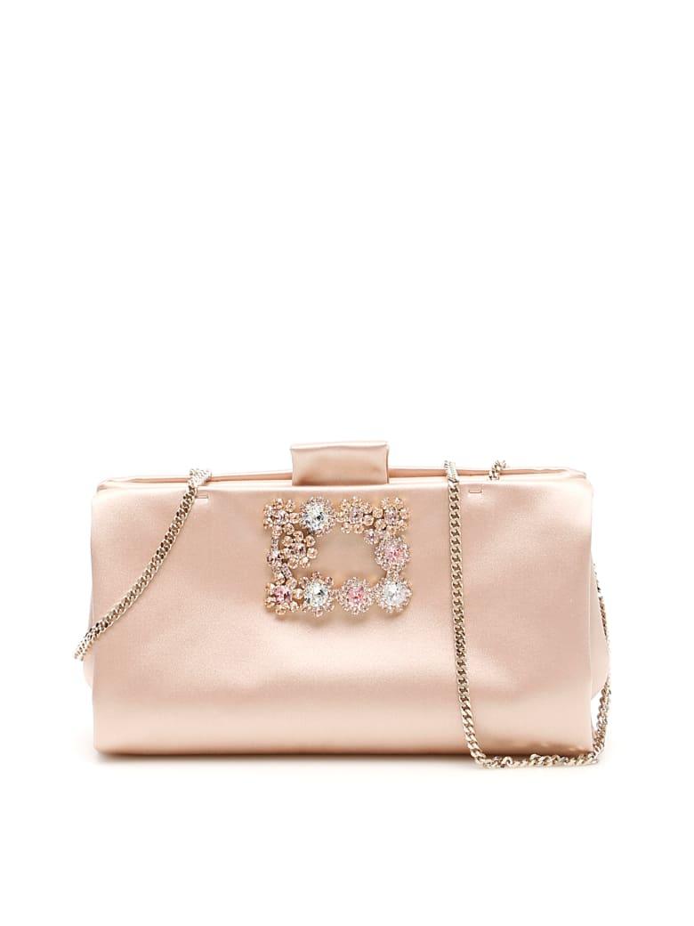 Roger Vivier Soft Flowers Clutch - DANZA (Pink)