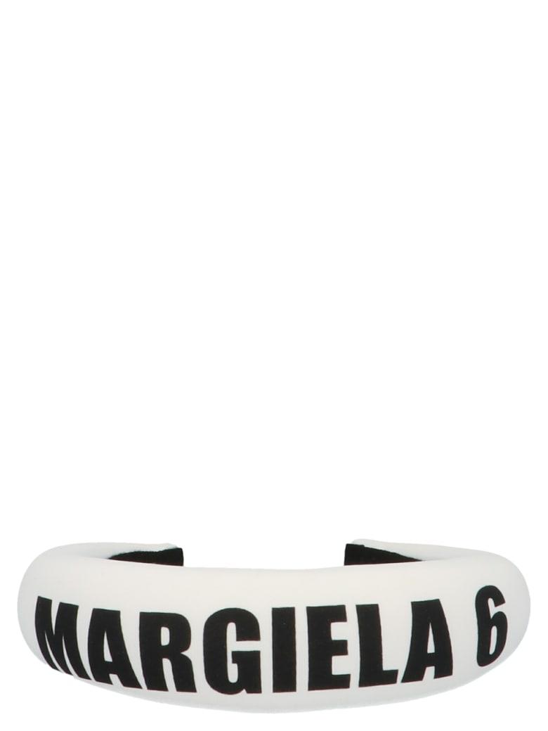 MM6 Maison Margiela 'margiela 6' Headband - Black&White