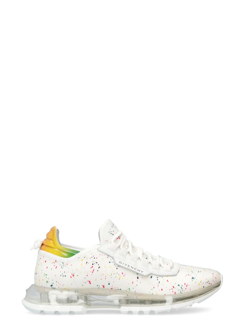 Givenchy Spectre Printed Fabric Sneakers - White