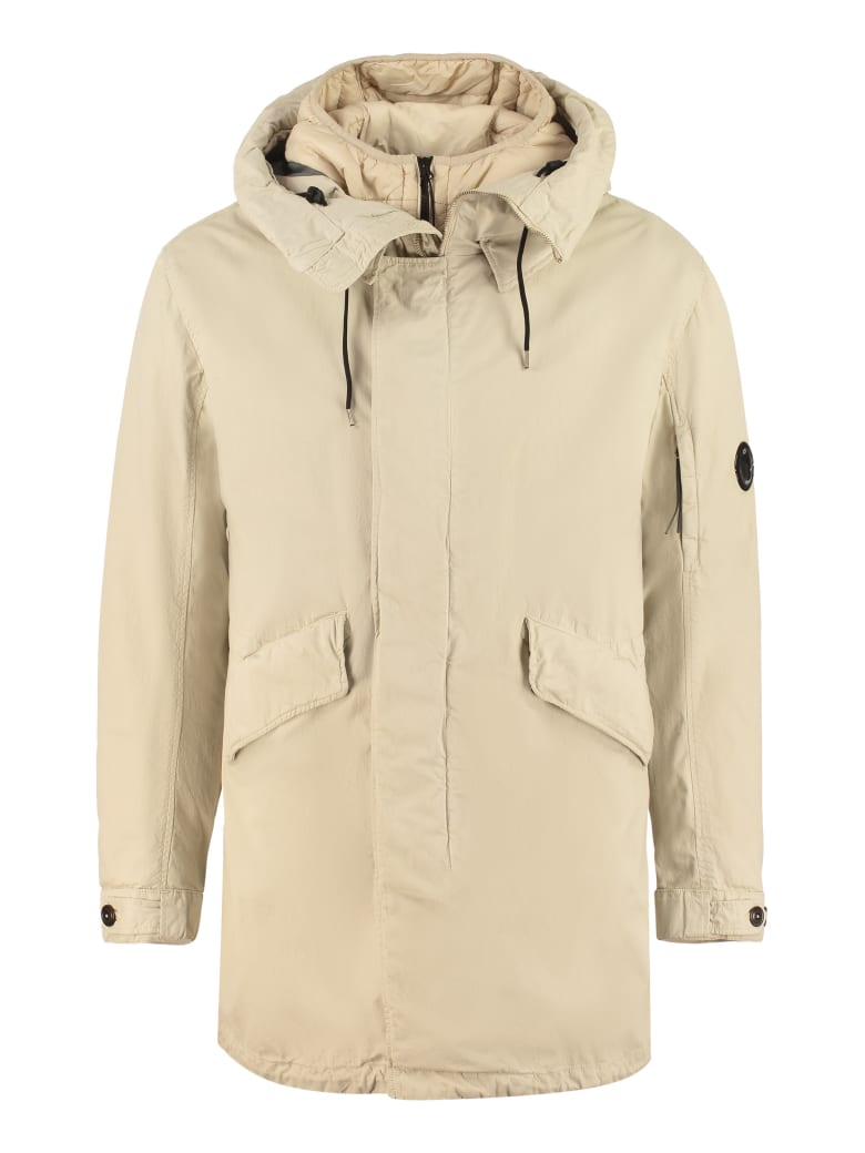 C.P. Company Hooded Cotton Parka - Beige