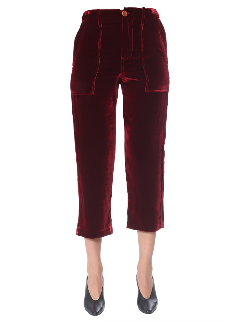 Jejia Cropped Pants - BORDEAUX