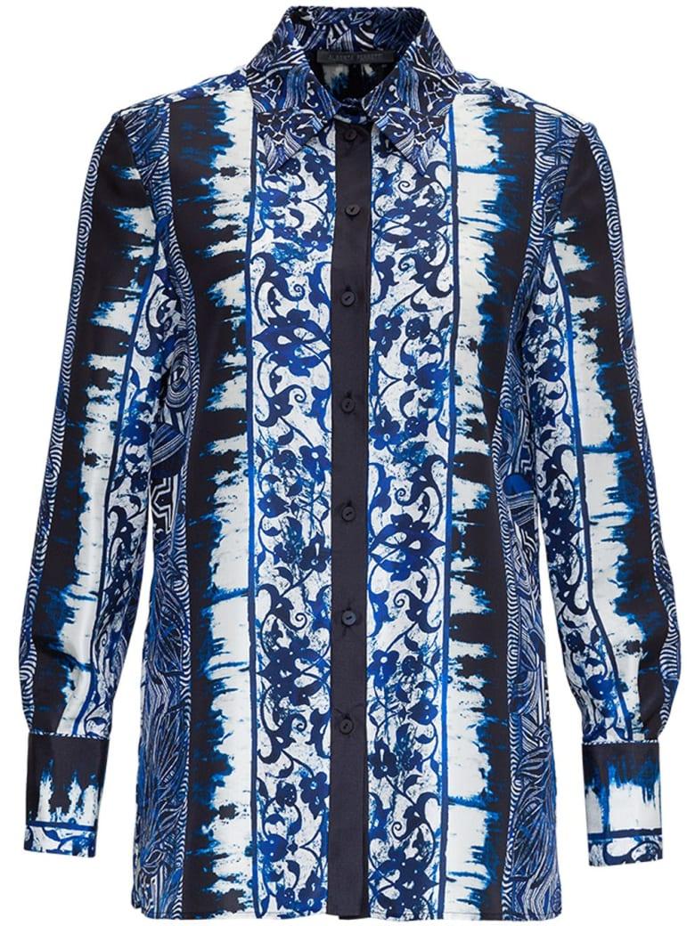 Alberta Ferretti Azulejos Silk Shirt - Blu