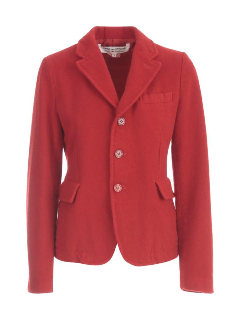 Comme des Garçons Comme des Garçons Worsted Wool Thick Sage Garment Treated Jacket - Red