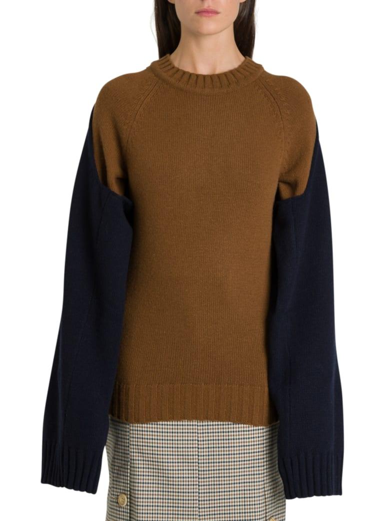Eudon Choi Fini Sweater With Double Sleeve - Marrone/blu