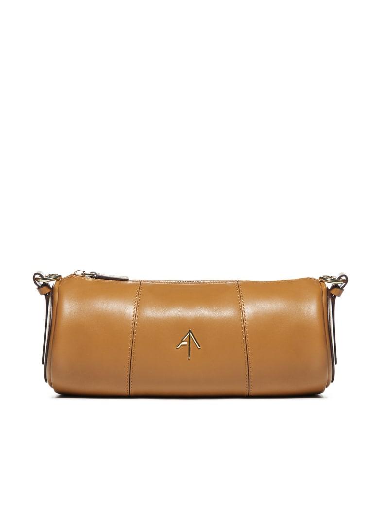 MANU Atelier Cylinder Leather Shoulder Bag - Sand