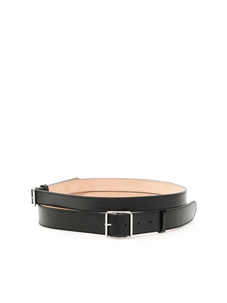Alexander McQueen Double Belt - BLACK (Black)