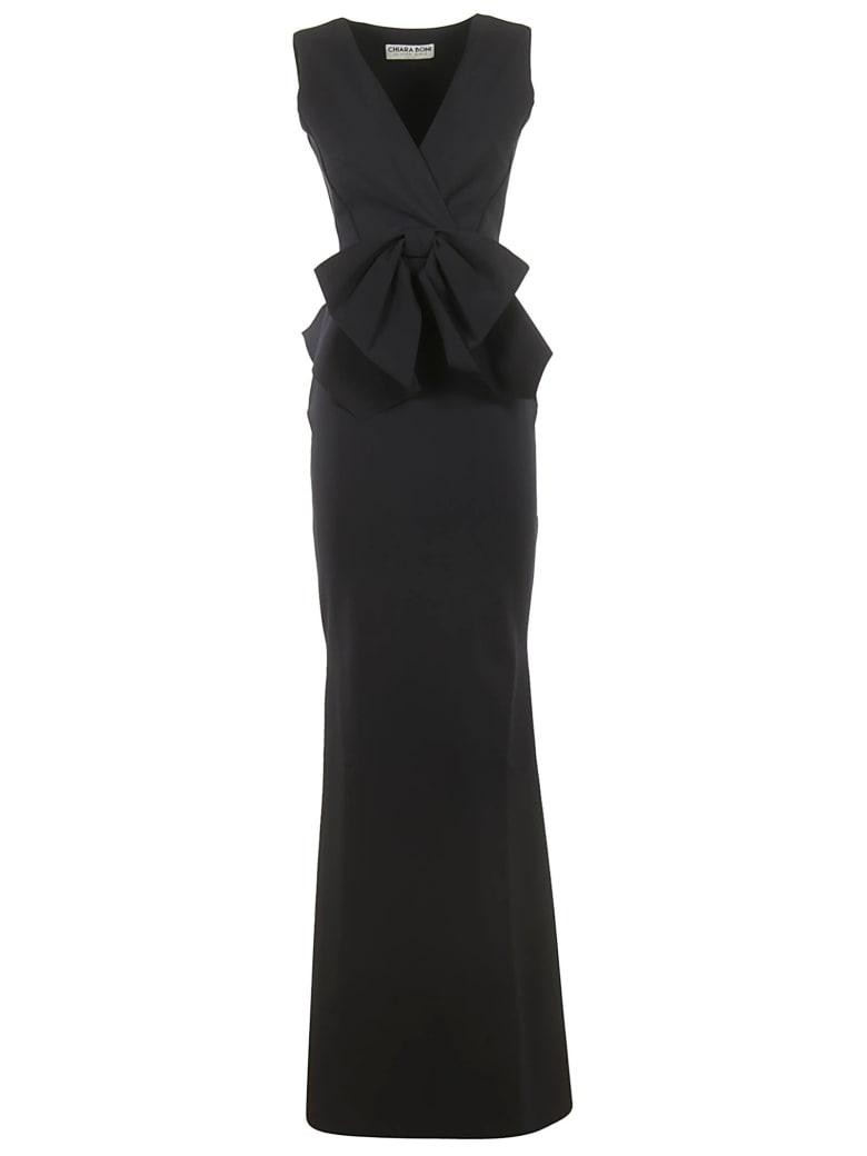 La Petit Robe Di Chiara Boni Chiara Boni Bow Detail Long Dress - Dark Blue