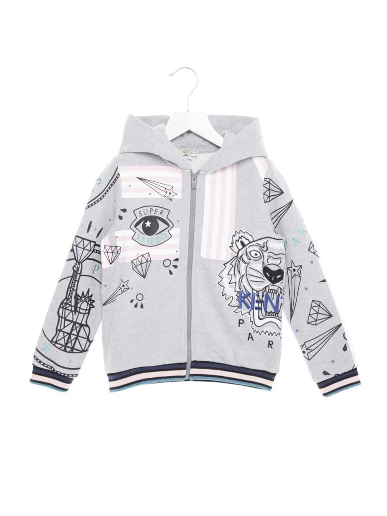 Kenzo Kids 'super Kenzo' Hoodie - Grey
