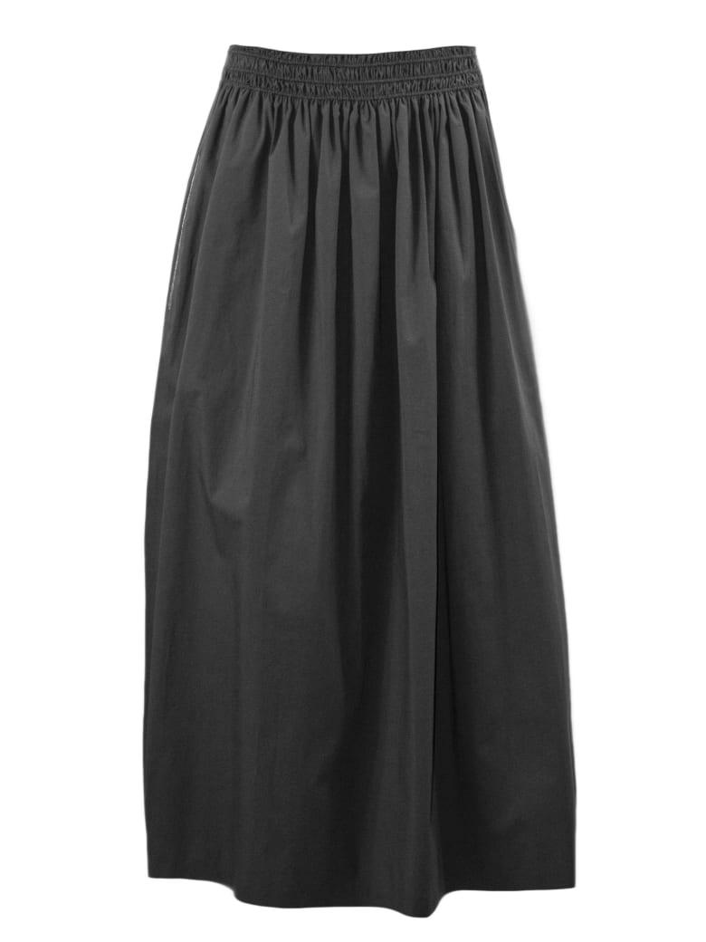 Fabiana Filippi Grey Popelin Cotton Skirt - Grigio