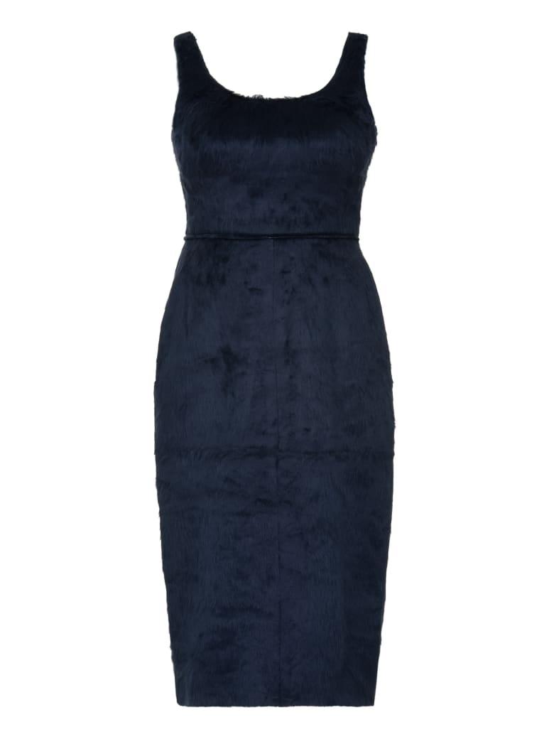AMBUSH Faux Fur Dress - blue