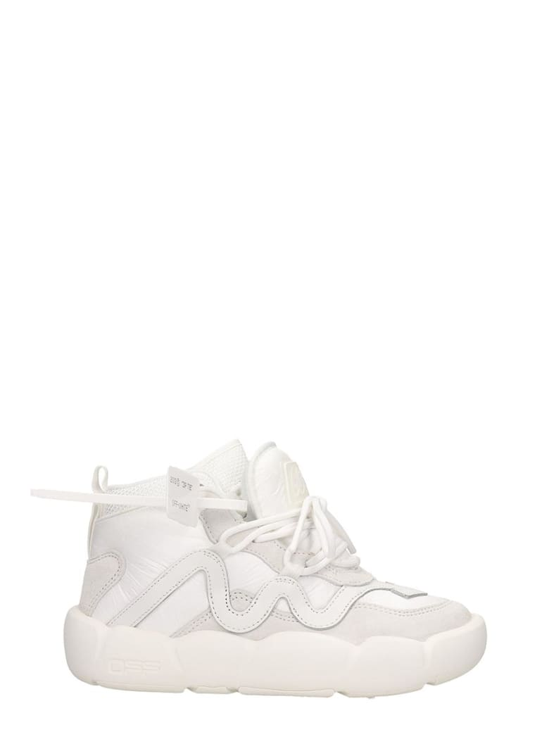 Off-White Sneakers In White Leather - white