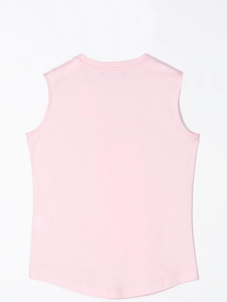 Balmain Tank Top With Buttons - Pink