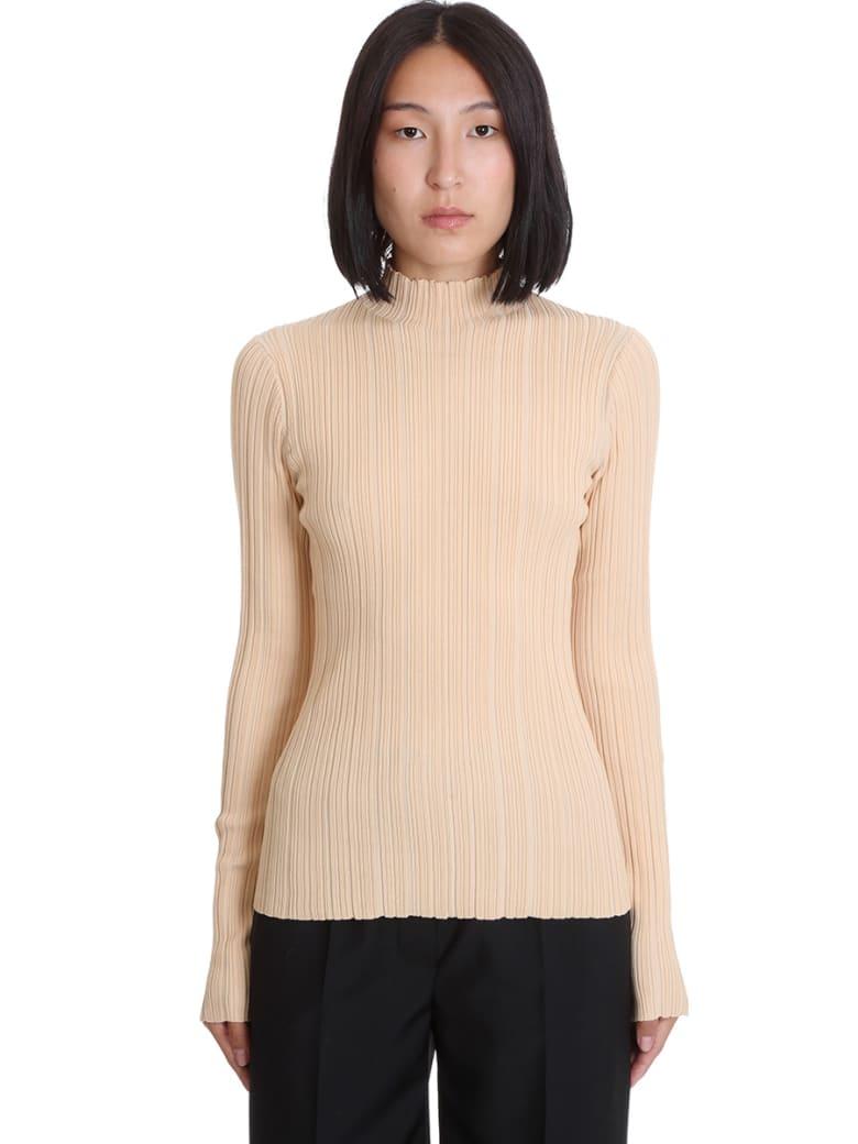 Acne Studios Katina  Knitwear In Beige Synthetic Fibers - beige
